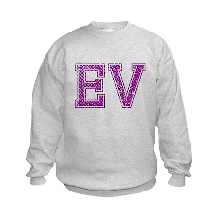 EV, Vintage Kids Sweatshirt