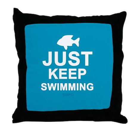 Keep Swimming Throw Pillow