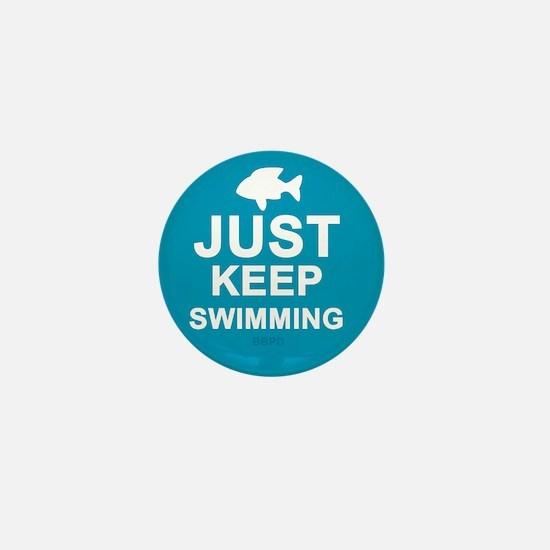 Keep Swimming Mini Button