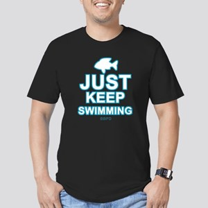 Just Keep Swimming Men's Fitted T-Shirt (dark)