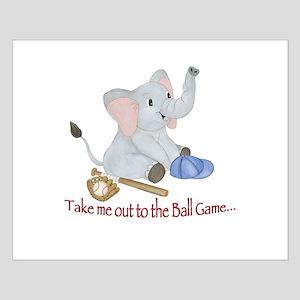 Baseball - Elephant Small Poster