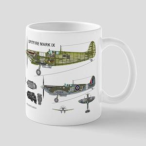RCAF Spitfire Cutaway Mug