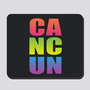 Cancun Black Rainbow Mousepad
