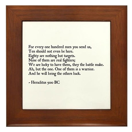 Heraclitus Quote Framed Tile