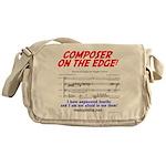composer on the edge Messenger Bag