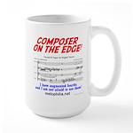 composer on the edge Large Mug