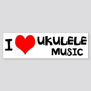 I Love Ukulele Music Sticker (Bumper)