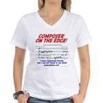 composer on the edge Women's V-Neck T-Shirt