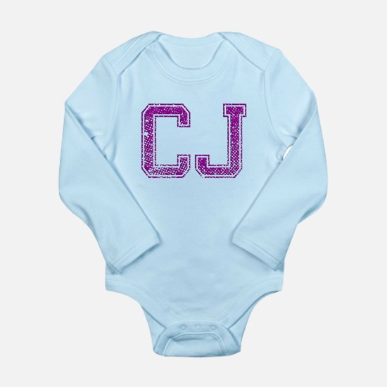 CJ, Vintage Long Sleeve Infant Bodysuit