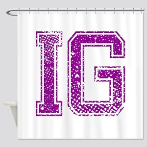 IG, Vintage Shower Curtain