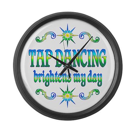 Tap Dancing Brightens Large Wall Clock