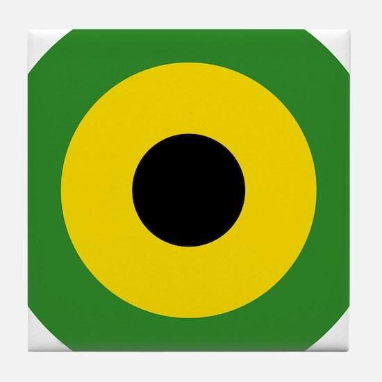 Jamaica Roundel Tile Coaster