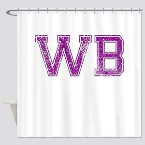 WB, Vintage Shower Curtain