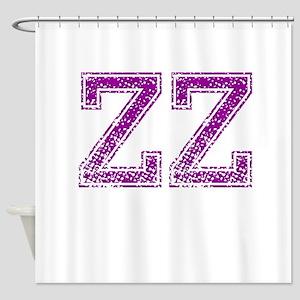 ZZ, Vintage Shower Curtain