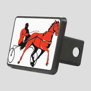 harness horse cart racing retro Rectangular Hitch