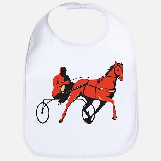 harness horse cart racing retro Bib