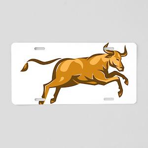 texas longhorn bull jumping side retro Aluminum Li