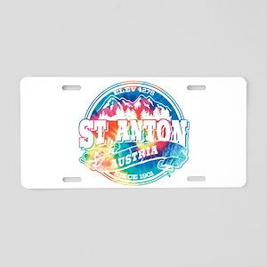St. Anton Old Circle Aluminum License Plate