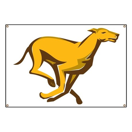 greyhound dog racing running side Banner