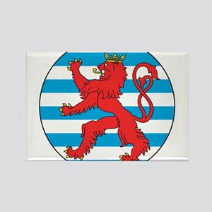 Luxembourg Roundel Rectangle Magnet