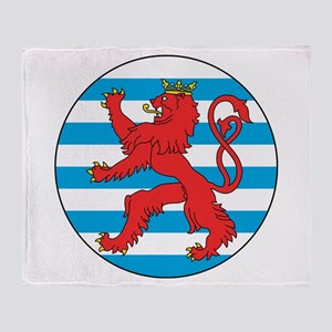 Luxembourg Roundel Throw Blanket