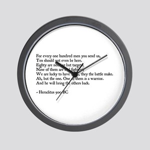 Spartan wall clocks cafepress heraclitus quote wall clock ccuart Image collections