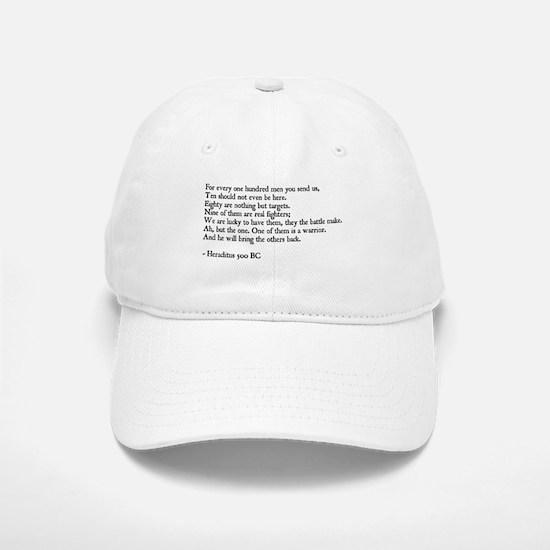 Heraclitus Quote Baseball Baseball Cap