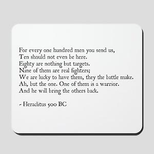 Heraclitus Quote Mousepad