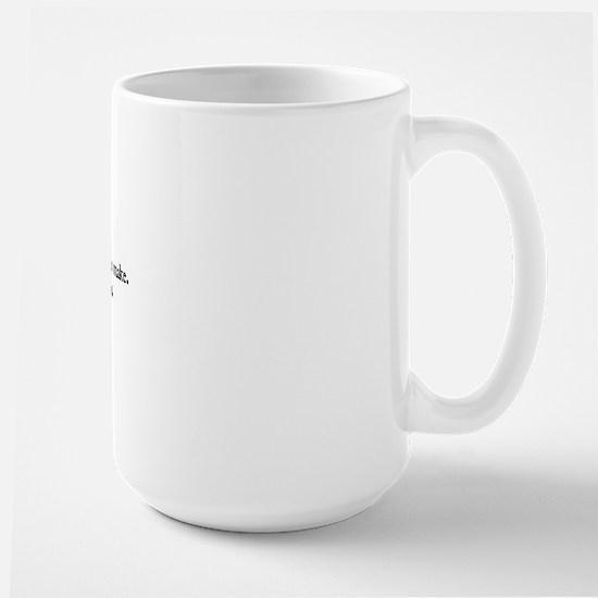 Heraclitus Quote Large Mug