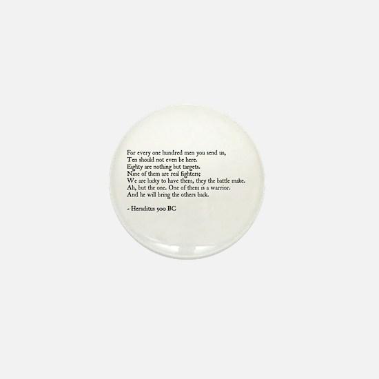 Heraclitus Quote Mini Button