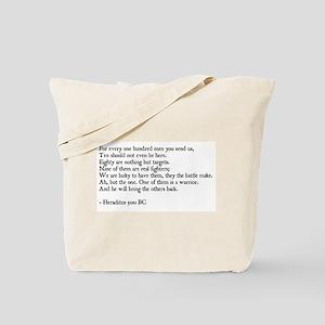 Heraclitus Quote Tote Bag