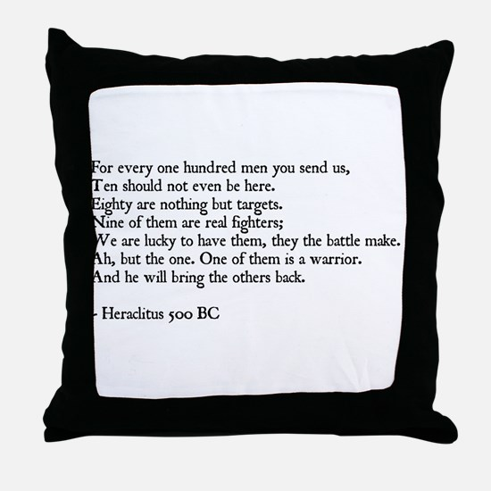 Heraclitus Quote Throw Pillow