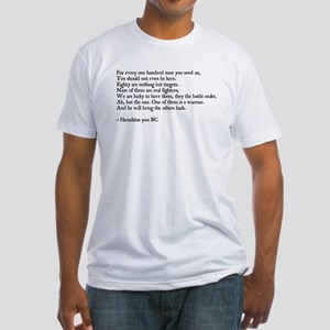Heraclitus Quote Fitted T-Shirt