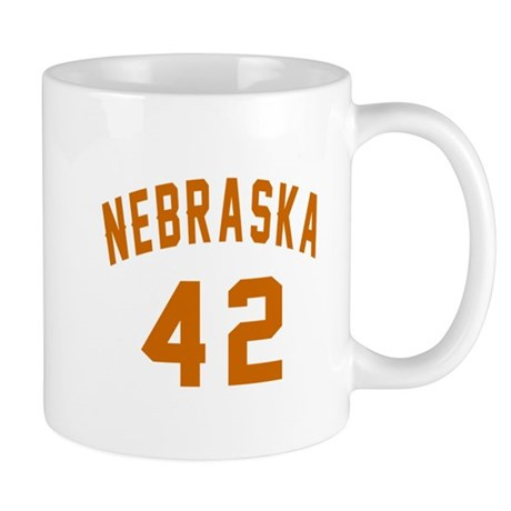 Nebraska 42 Birthday Designs 11 oz Ceramic Mug