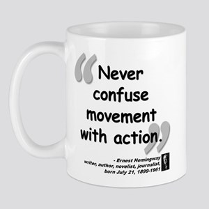 Hemingway Action Quote Mug