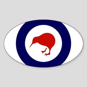 New Zealand Roundel Sticker (Oval)