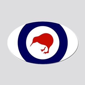 New Zealand Roundel 20x12 Oval Wall Decal