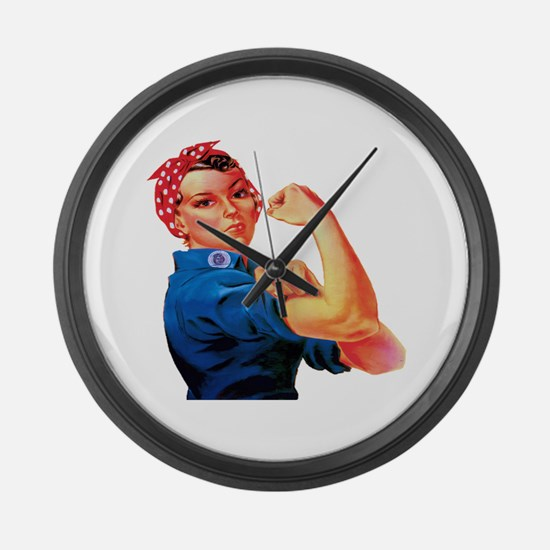 Rosie the Riveter Large Wall Clock