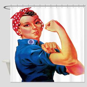Rosie the Riveter Shower Curtain