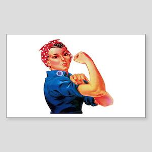 Rosie the Riveter Sticker (Rectangle)