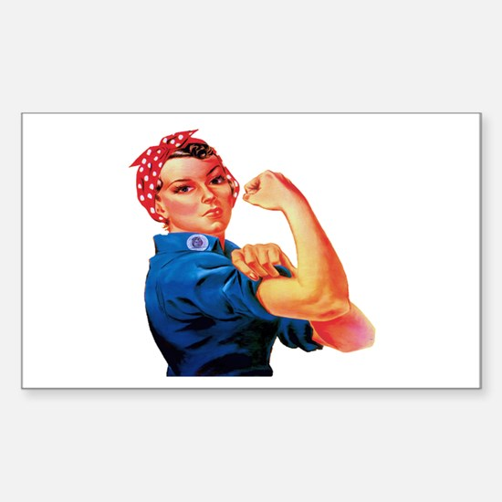Rosie the Riveter Sticker (Rectangle)