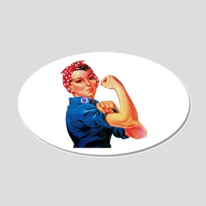 Rosie the Riveter 35x21 Oval Wall Decal