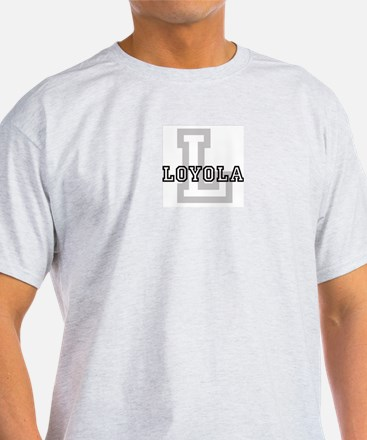 Loyola (Big Letter) Ash Grey T-Shirt