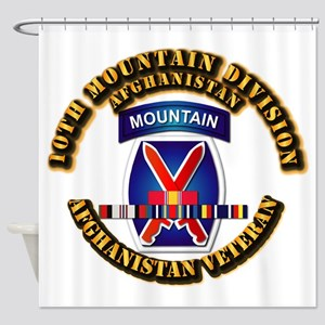 Army - 10th Mountain Div w Afghan SVC Ribbons Show