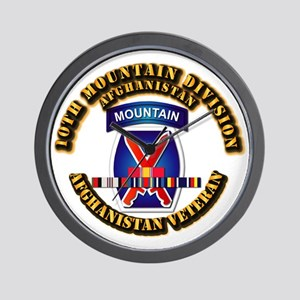 Army - 10th Mountain Div w Afghan SVC Ribbons Wall