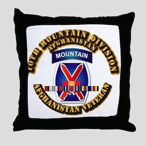 Army - 10th Mountain Div w Afghan SVC Ribbons Thro