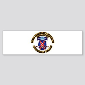 Army - 10th Mountain Div w Afghan SVC Ribbons Stic