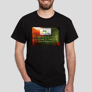 Funny Serious Coffee Men's Dark T-Shirt