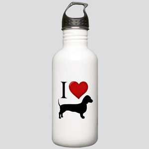 Dachshund - I Love Dachshunds Stainless Water Bott