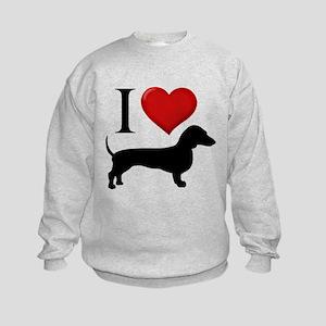 Dachshund - I Love Dachshunds Kids Sweatshirt
